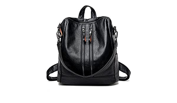Amazon.com: 2018 New Fashion Soft Genuine Leather Backpack Women Brand Ladies Backpacks For Teenage Girls Casual School Bag Black L29Cm W14Cm H32Cm: Shoes