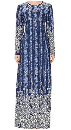 Musulmano Medio Floreale Delle lungo Della Stampa Abaya Coolred Musulmano Oriente In Vestito As2 Donne Jilbab 0qRBnfY