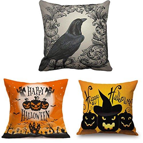 Pillow Case Neartime Happy Halloween Pillow Cases Linen Sofa Cushion Cover Home Decor (Free, C)]()