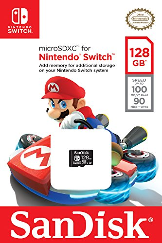 SanDisk 128GB microSDXC UHS-I Card for Nintendo Switch - SDSQXAO-128G-GN6ZA by SanDisk