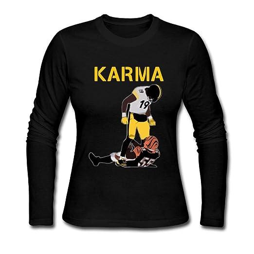 9be98100f Amazon.com  Women Steelers Karma Juju Smith-Schuster Vontaze Burfict Long  Sleeve  Clothing