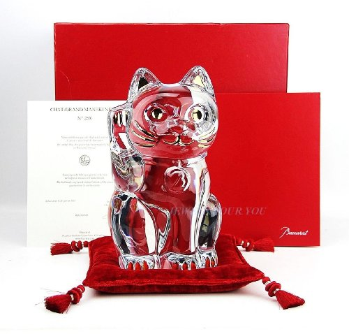 Baccarat Baccarat Crystal Figurines - Baccarat Grand Maneki Neko Lucky Cat Crystal Figurine 10