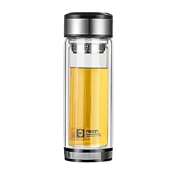 Doble Pared Botella de Agua de Vidrio,con Desmontable Filtro ...