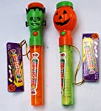 Flashlights Filled with Smarties 2 Pack - includes 1 Pumpkin and 1 Frankenstein Smarties filled Flashlight - great stocking stuffer