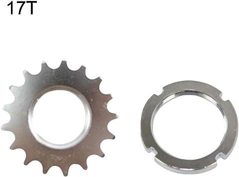 Black 13T 1//8 Single Speed Fixed Fixie Cog /& Lockring Fixie Track Bike Bicycle