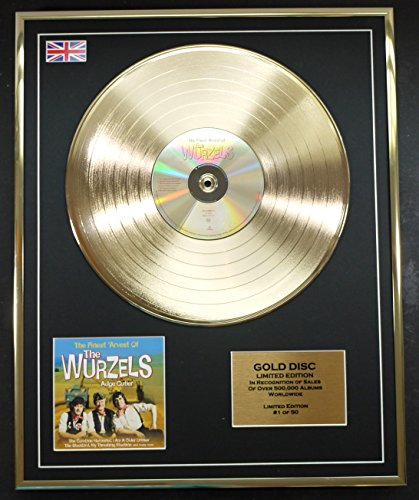 The Wurzels Cd Gold Disc Record Limited Edition The Finest Arvest Of