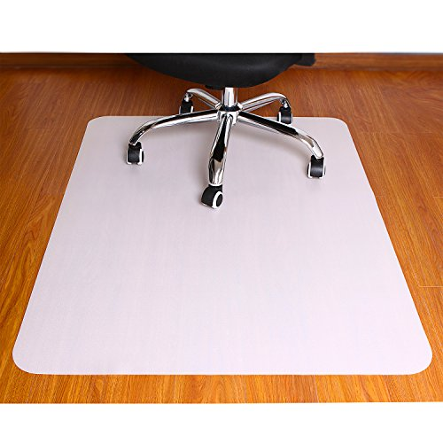 Polytene Office Chair Mat, 47'x35',Hard Floor Protection with Rectangular Shaped Anti Slide Coating on the Underside,White