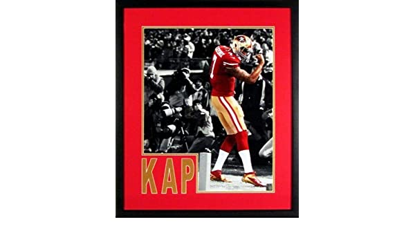 3eddfd538 Amazon.com  SF 49ers vs. GB Packers Colin Kaepernick 16x20 Spotlight  Photograph (SGA Impact Series) Framed  Sports Collectibles