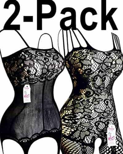 4d98223495 Daisland 2 Women Sexy Lingerie Sleepwear Nightwear Fishnet Bodystocking  Bodysuit