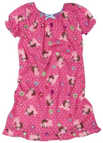 UPC 000716062873, Komar Kids Little Girls' Pretty Puppy Short Sleeve Gown, Pink, 3T