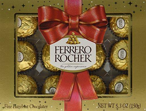 - Ferrero Rocher Holiday Gift Box 12 Pralines 5.3oz
