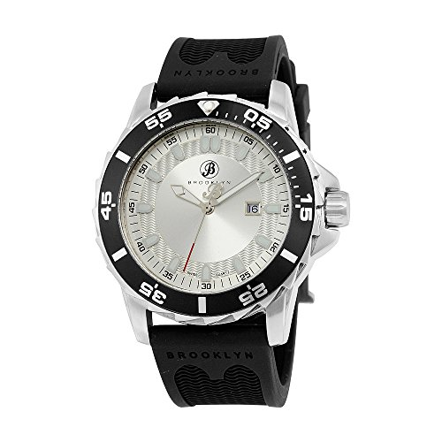 Brooklyn Waterbury Sports Diver Silver Dial Swiss Quartz Watch 302-M1123 by Brooklyn Watch Co.