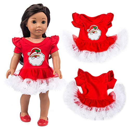 Theshy Chirstmas Clothes Dress for 18 Inch American