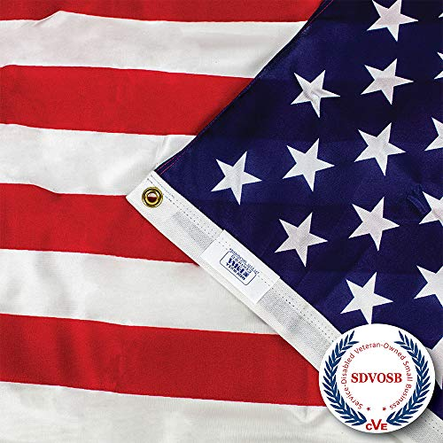 (AMERICAN FLAG 3 Ft. x 5 Ft - PRINTED Stars and Stripes - 100% Made in USA)