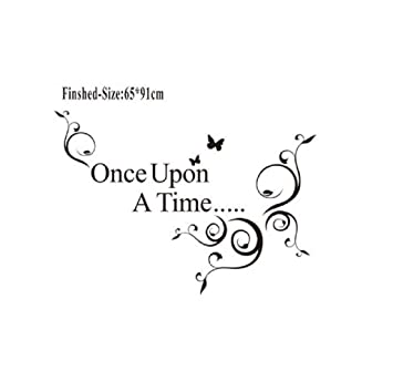Image Unavailable Not Available For Color Home Decor Wall StickerVIASA Once Upon A Time