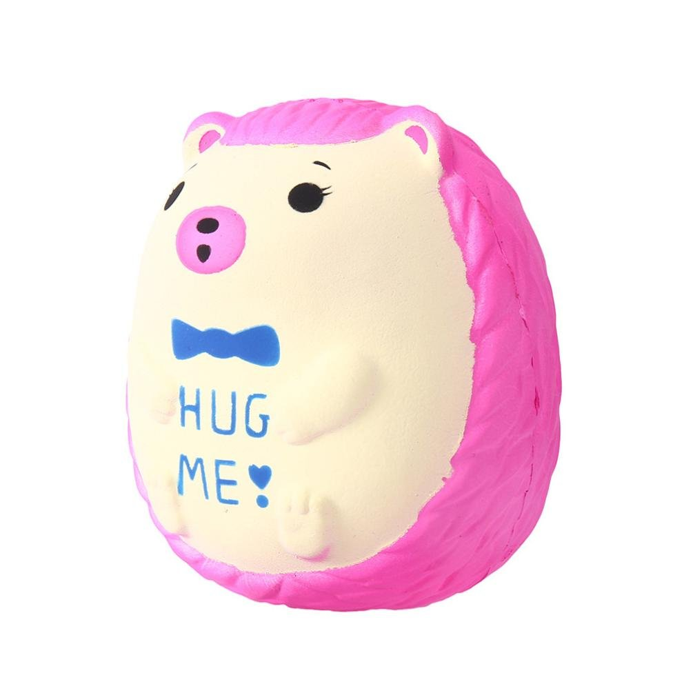 Lavany Squishies Jumbo Hedgehog Toys, Cute Animals Squishy Slow Rising Jumbo Squishies Toy Scented Squeeze Toy for Adult Party (Hot Pink)