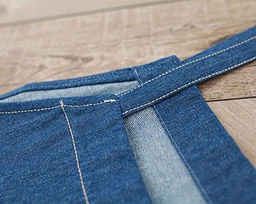 Vaqueros Blau Anchas Moda Trabajo Unicolor Elegantes Bolsillos con Ropa Ropa Overall Basic De Denim Monos Mujer Verano Baggy Ropa Pantalones Vintage Casual 1p5Yn8w