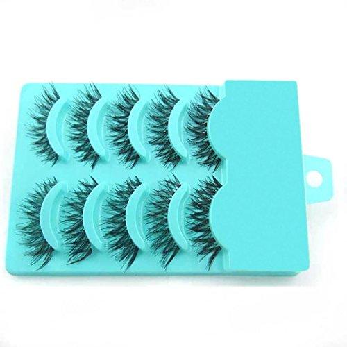 NewKelly Big sale! 5 Pair/Lot Crisscross False Eyelashes Lashes Voluminous Hot Eye Lashes (Demi Mink)
