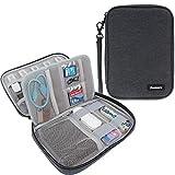 Damero USB Flash Drive Bag for SD Cards, Power Banks, Memory Cards/Waterproof External Hard Drive Case (Large, Black)