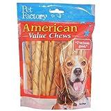 PET FACTORY 28754 American Beef-Hide Premium Chicken Flavored Twist Sticks, 5-Inch 25-Pack