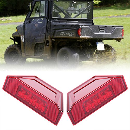 1 Pair Rear Tail Light Assembly,New LED Brake Stop Lamp for 2013-2016 Polaris Ranger RGR Brutus 570 XP 900 1000 Replacement Part 2412774 Red-BUNKER INDUST