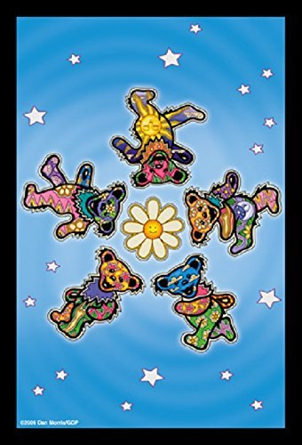 "Dancing Bears Daisy - Dan Morris, Grateful Dead Set of 2 Mailable POSTCARD for Travel Holiday Thank you Cards - 4"" x 6"""