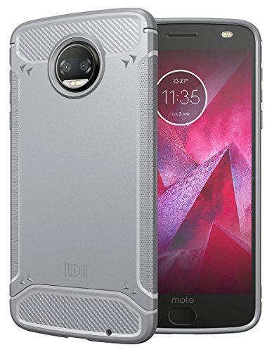 - Moto Z2 Force Case, TUDIA Carbon Fiber Design Lightweight [TAMM] TPU Bumper Shock Absorption Cover for Motorola Moto Z Force (2nd Generation), Moto Z2 Force Droid Edition (Gray)