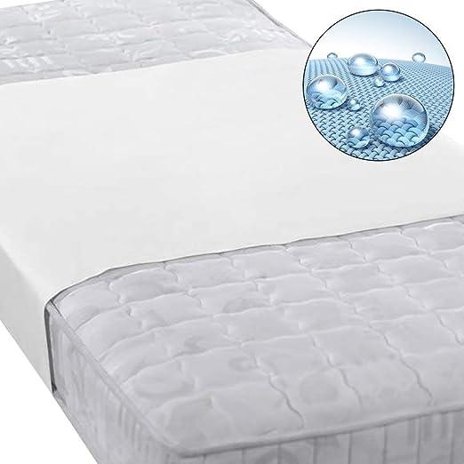 Beautissu Protector de colchon Cubre colchón BEAUTECT Impermeable Transpirable incontinencia Banda Central Blanca - 70x140 cm: Amazon.es: Hogar
