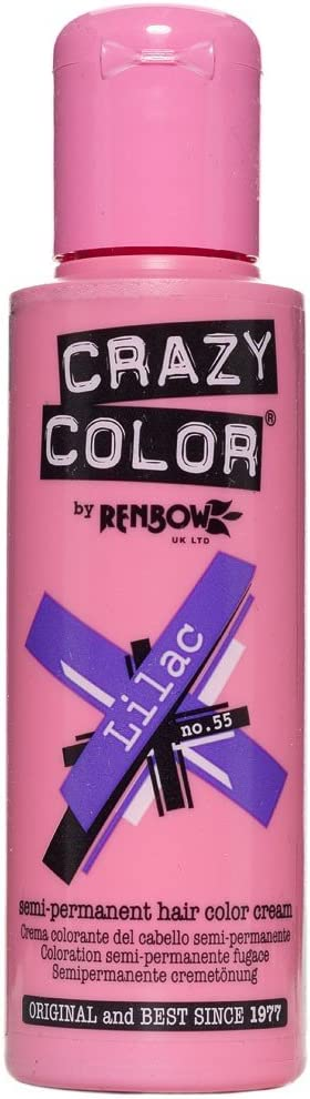 Tinte capilar semi-permanente de Crazy Color 100ml (Lilac - lila)
