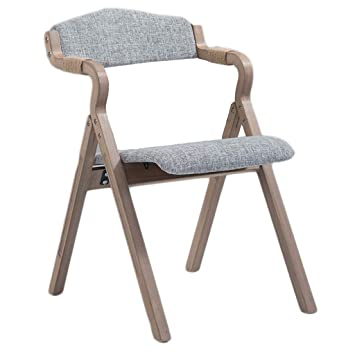 Amazon.com: Wooden Padded Folding Chair, Dining Chair ...