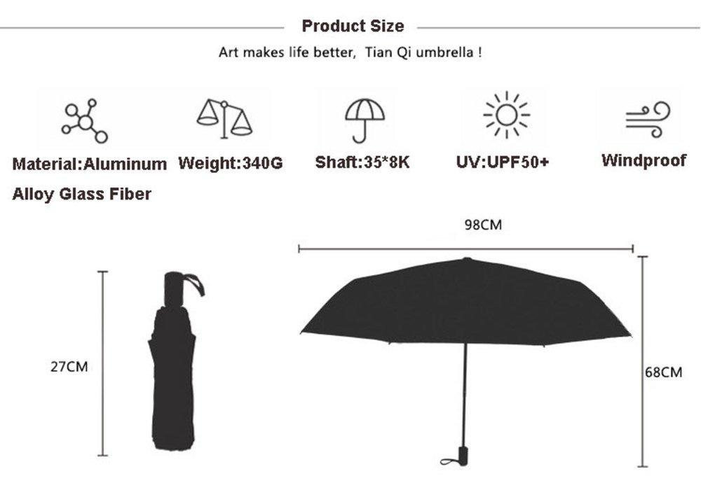 Fine Art 4 Folding Parasol Sun Protection Anti-UV Umbrella for Women by HOCOOL (Image #3)