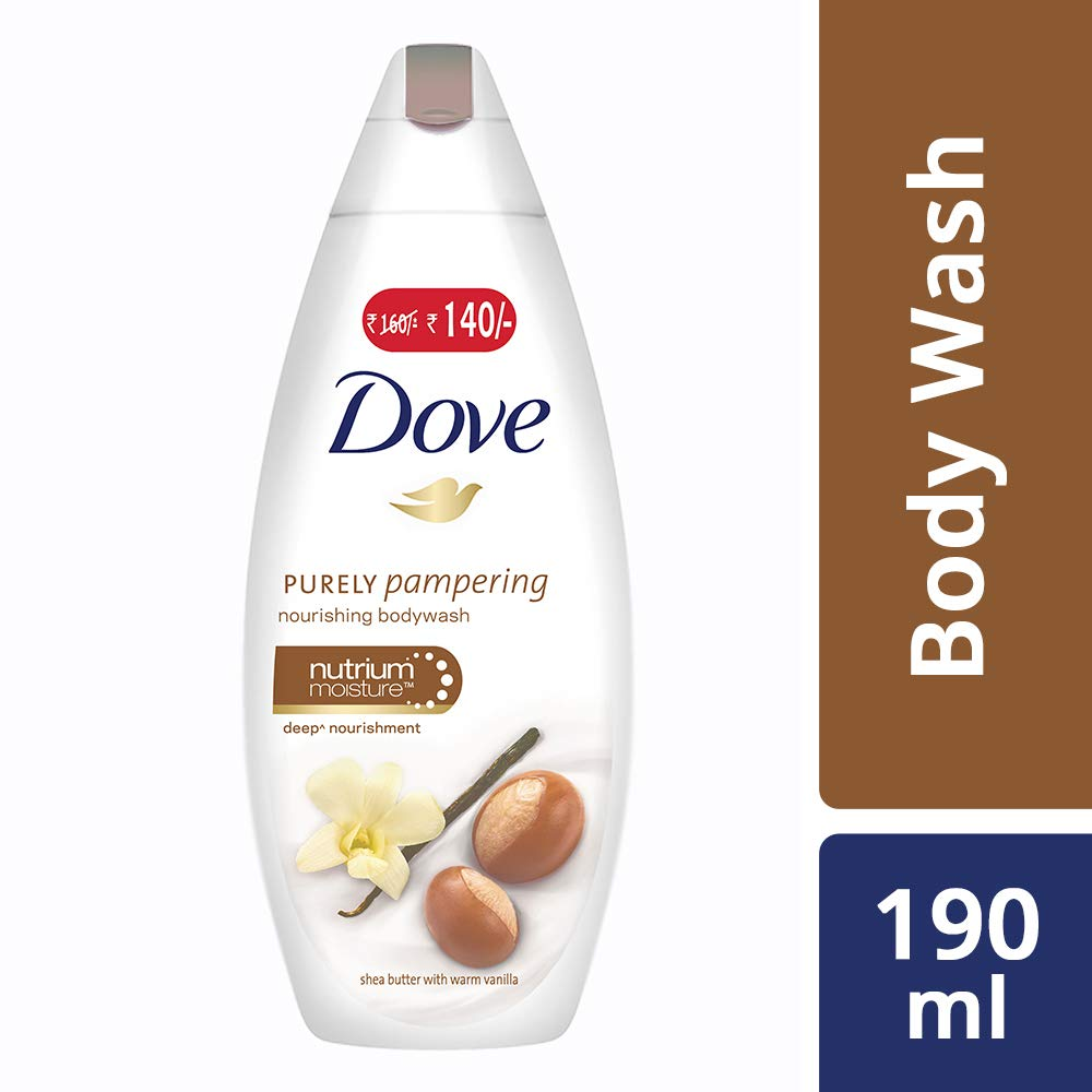 [Min 3 qnty] Dove Shea Butter and Warm Vanilla Body Wash, 190ml