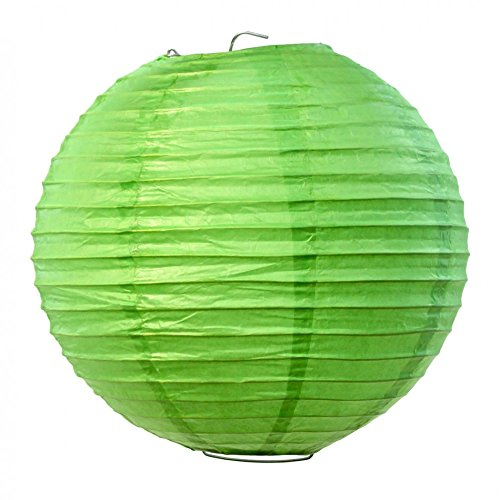 Koyal-Wholesale-Paper-Lantern-12-Inch-Kiwi-Green