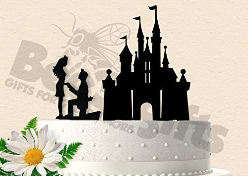 Amazoncom Magical Castle Proposal Wedding Cake Topper Handmade