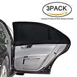 #9: AutoNmore Window Shades, 3 PACK Car Side Rear Sun Shade Premium Universal Fit for Baby Child Kids for Cars and SUV's- Protects Your Baby from the Sun- Breathable and Stretch