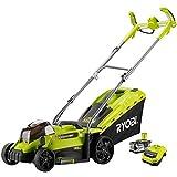 Ryobi RLM18X33H40 One Plus Cordless Lawnmower, 18 V, Hyper Green
