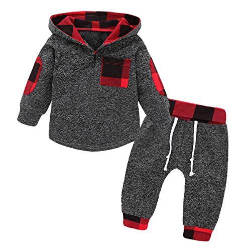 Peuter Baby Jongen Meisje Hoodie Outfits Lange Mouw Hooded Sweatshirt Tops+Pant 2 stks Set