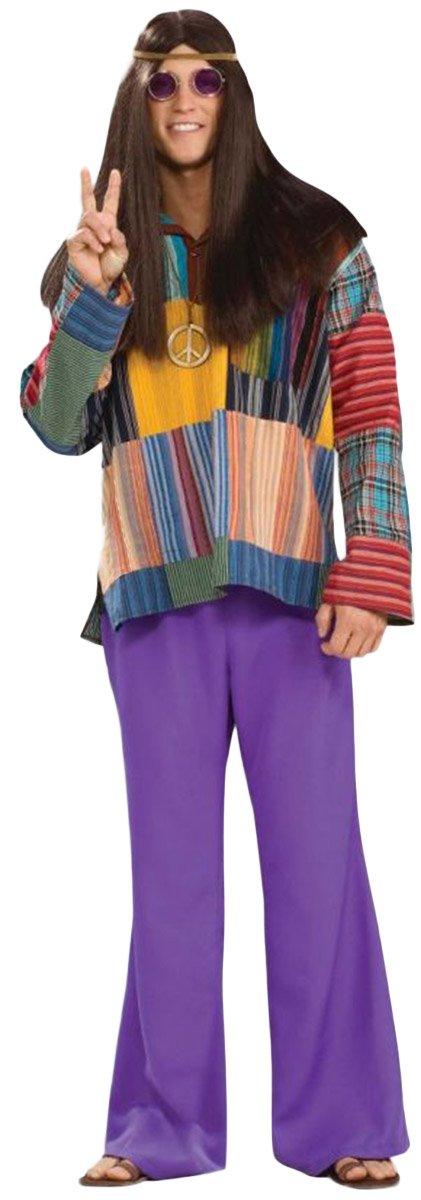 Forum Novelties Men's 60's Hippie Revolution Haze Bell Bottom Pants, Purple, Standard