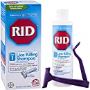 RID Lice Killing Shampoo, Proven Effective Head Lice Treatment for Kids and Adults, Includes Nit Comb, Bottle, 8.0 Ounces