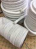 "KT Refractories Ceramic Fiber Square Braided Rope 31-1/4lb 150ftX1""X1"""