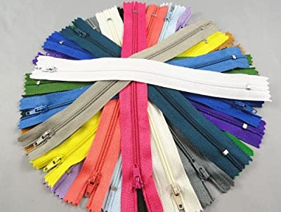 YAKA 54pcmix Nylon Coil Zippers Tailor Sewer Craft 9 Inch Crafter's Special from YAKA