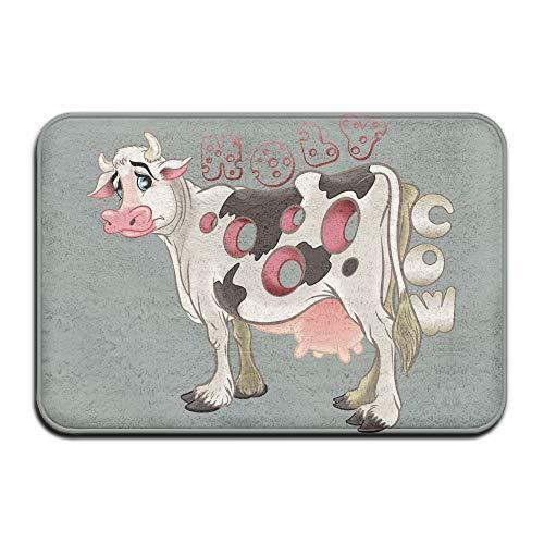 Baerg Non-slip Stain Fade Resistant Door Mat Holy Milk Cow Living Dining Room Rug 23.615.70.39Inch by Baerg