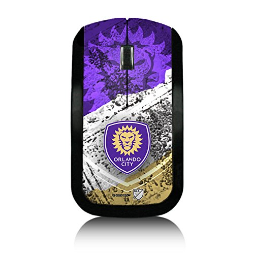 Orlando City Soccer Club Burn Design Wireless USB Mouse MLS by Keyscaper