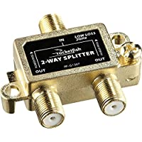 Rocketfish - 2-Way Coaxial Splitter - Gold