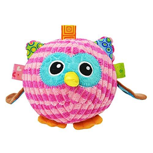 Price comparison product image MONOMONO-Image vivid Cute Children Kids 3D Animal Shape Ball Toy (Owl)
