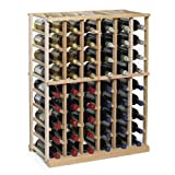Cheap N'FINITY Wine Rack Kit – 6 Column Half Height -Natural Finish – Solid Mahogany