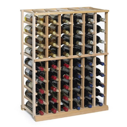 N'FINITY Wine Rack Kit - 6 Column Half Height -Natural Finish - (6 Column Wine Rack)