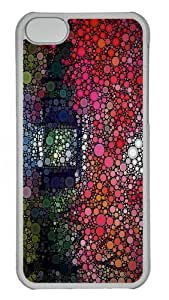 iPhone 5C Cases, iPhone 5C Case - Color Circles Custom PC Case Cover For iPhone 5C - Tranparent