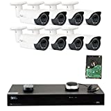 Cheap GW 8 Channel H.265 4K NVR 5-Megapixel (2592 x 1520) 4X Optical Zoom Network Video Security System, 8pcs 5MP 1920p 2.8-12mm Motorized Zoom POE Weatherproof Bullet IP Cameras, 120ft Night Vision