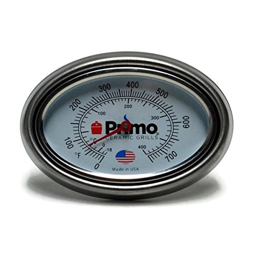Primo Thermometer - Primo Grill Thermometer and Bezel Combo for Primo Ceramic Grills - Now 200% Larger and Ability to Calibrate